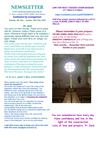 NEWSLETTER MON 4th MAY 2020 SUN 10th MAY 2020