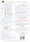 NEWSLETTER Mon 10th May Sun 16th May 2021