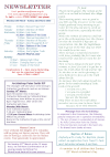 NEWSLETTER MON 16th MARCH 2020 SUN 22nd MARCH 2020