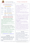NEWSLETTER Mon 17th May Sun 23rd May 2021