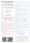 NEWSLETTER MON 23rd MARCH 2020 SUN 29th MARCH 2020