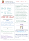 NEWSLETTER Mon 24th May Sun 30th May 2021