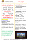 NEWSLETTER MON 1st MARCH 2021 SUN 7th MARCH 2021